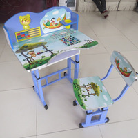 BZshengao X1702 blue popular children writing tables and chairs