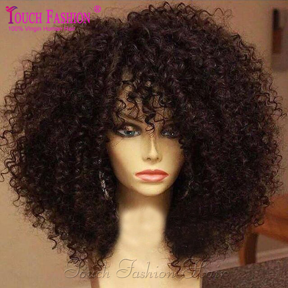 Glueless Virgin Malaysian Kinky Curly Full Lace Wig With