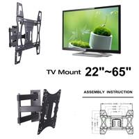 Swivel Tilt LCD Monitor Stand Screen Wall Mount Bracket TV Mounts 22 26 32 40 42 46 48 50 65 inch LED Plasma TV VESA