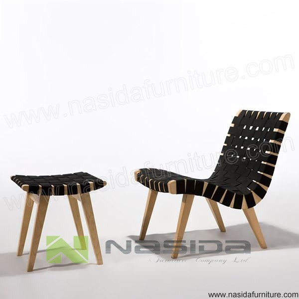 CH370 Risom Lounge Chair - Black Cord
