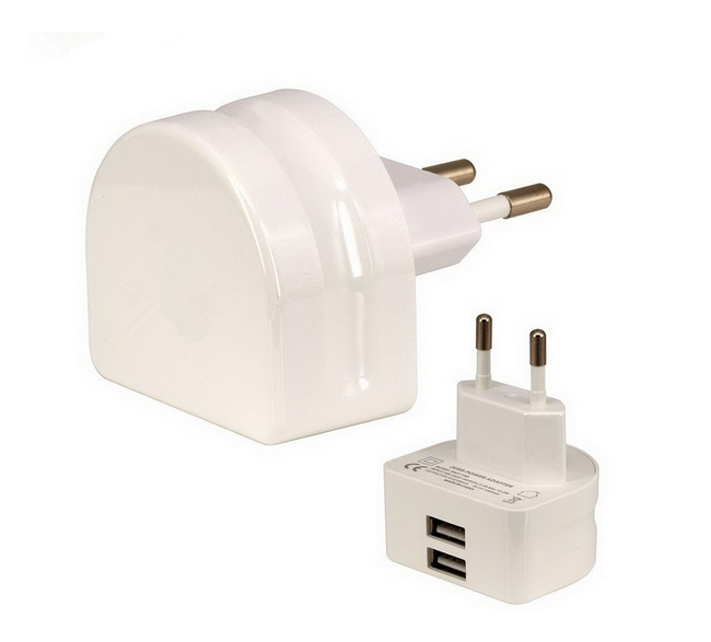 Super Fast mobile phone charger 5V 2.1A EU 2 USB Port Micro USB Charger Wall Plug Power Adapter for iphone charger