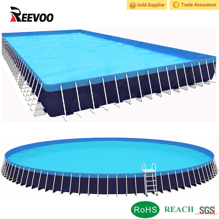 Hot selling big plastic 25 meter boven grond zwembad