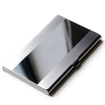 Customized LOGO Stainless Steel Business Card Holder