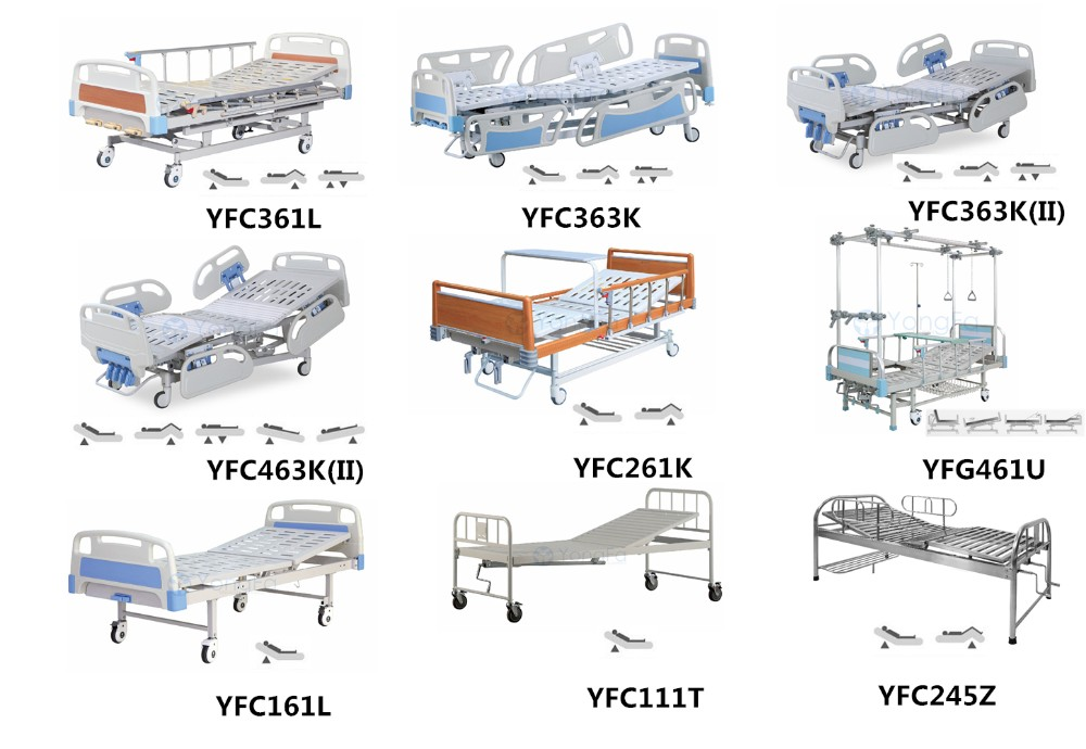 YFC261K Two Cranks Two Function Manual Cheap Price Hospital Bed