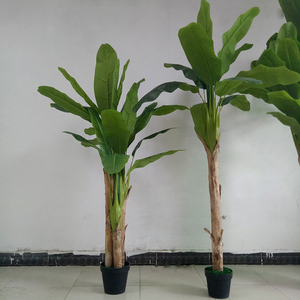 China Supplier Artificial Plastic Banana Tree and Plastic Banana Leaves for Banana Buyers