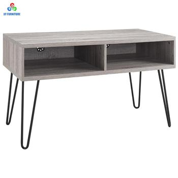 Retro Metal Legs Wooden Console Table Tv Unit Desk Stand Cabinet With Drawers Buy Wooden Tv Standmetal Legs Tv Standwood Tv Stand With Drawers