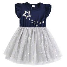 Платье-пачка для девочек DXTON, детское платье на свадьбу, день рождения, костюм единорога, детская одежда, лето 2020, От 3 до 8 лет(Китай)