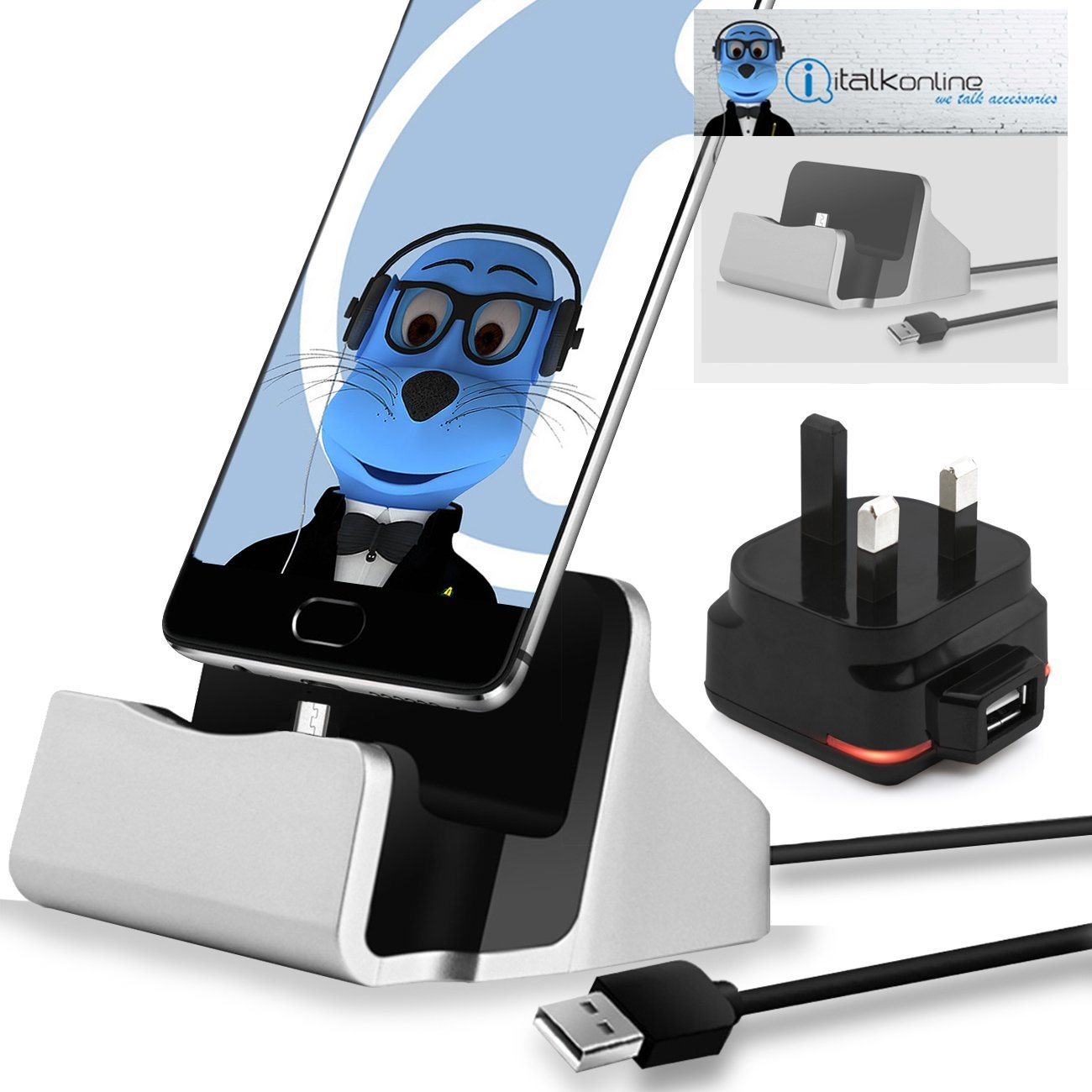 USB Power Port Ready retractable USB charge USB cable wired specifically for the Pantech Discover and uses TipExchange