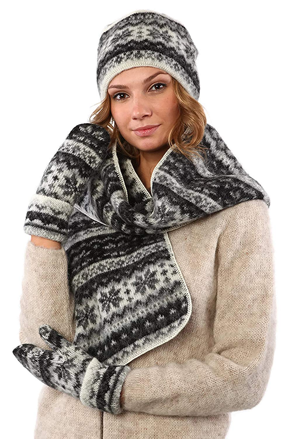 d765f2b1796 Icelandic Wool 3 Pieces Set of Beanie Mittens and Scarf by Freyja Canada