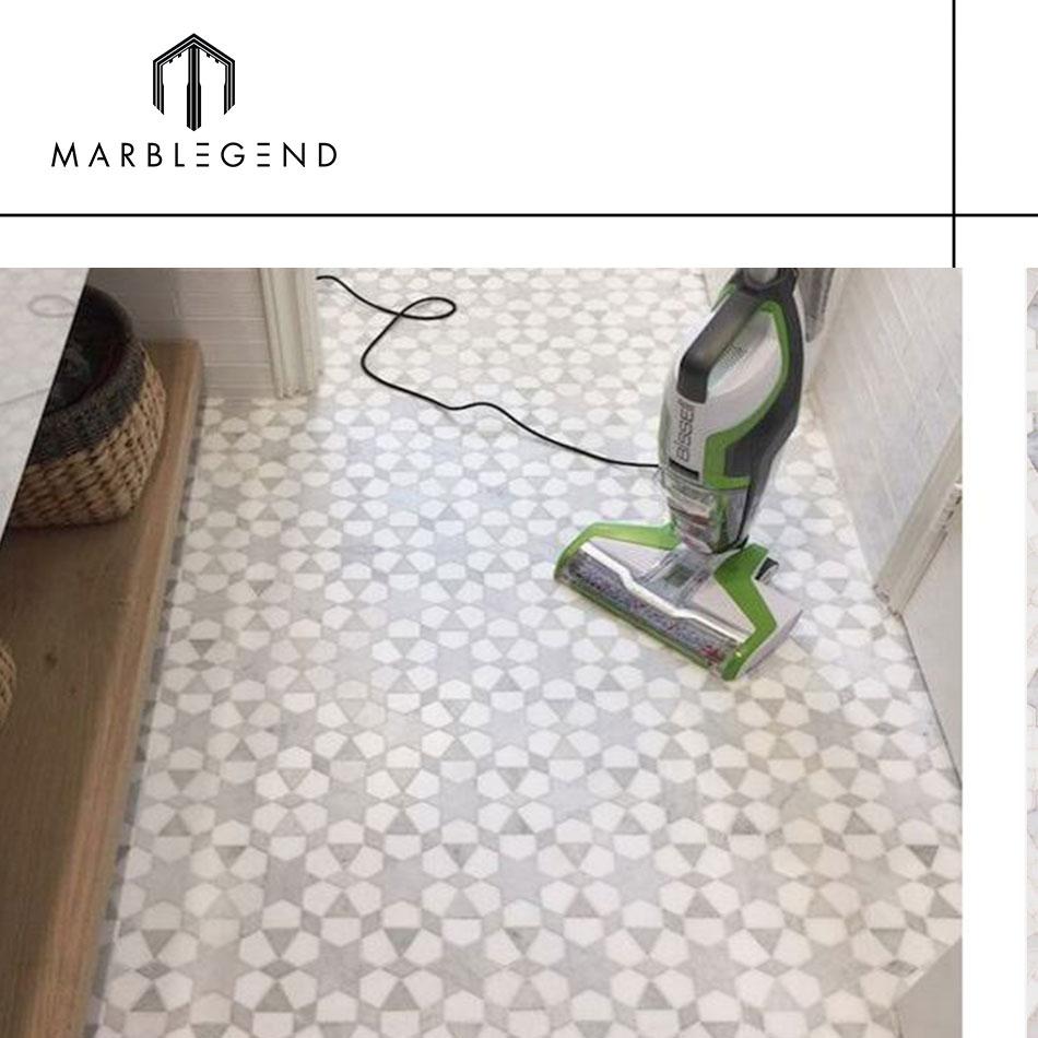 Brasil villa & casa piso de mármore da telha de mosaico de parede do banheiro telha