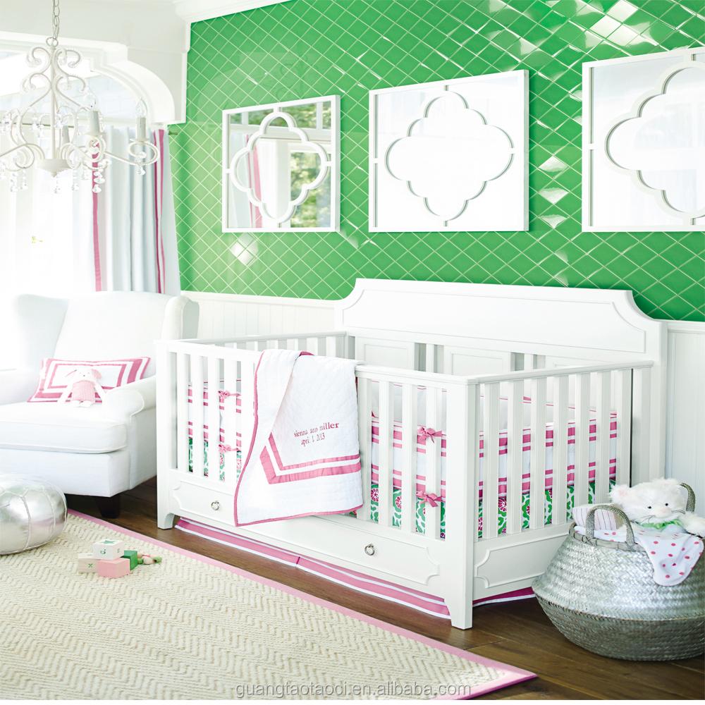 venta caliente de color verde nuevo diseo decorativo bao azulejo rstico