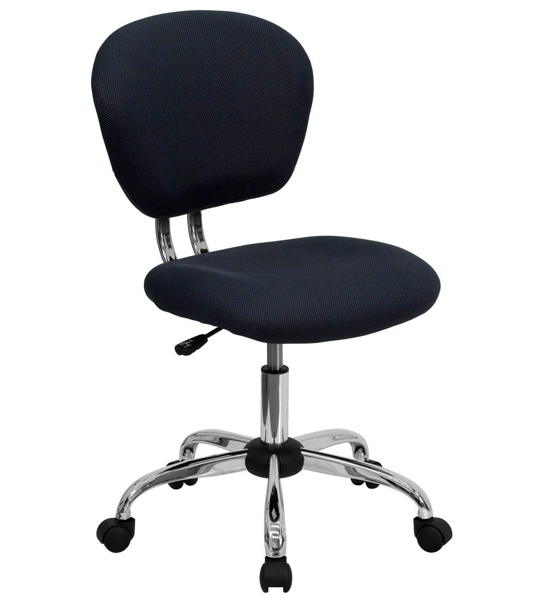 Mid-Back Gray Mesh Task Chair with Chrome Base