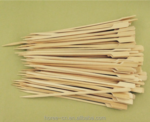 BBQ Sticks Flag/Gun Skewers with the material of Bamboo 22cm