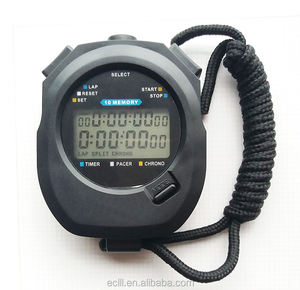 Waterproof LCD digital handheld 3 rows professional stopwatch