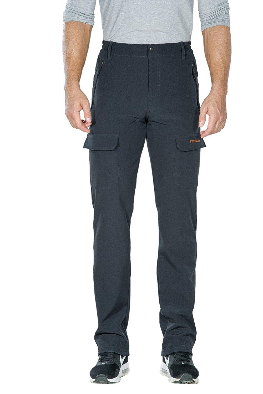 94512e28 Get Quotations · Nonwe Men's Outdoor Winter Water Resistant Fleece lined  Cargo Snow Hiking Pants