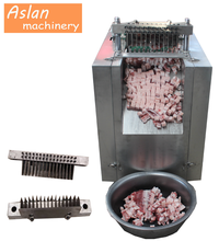 Automatische <span class=keywords><strong>vlees</strong></span> cube dicer machine/kip slicer cutter machine/bevroren varkensvlees <span class=keywords><strong>snijmachine</strong></span> prijs