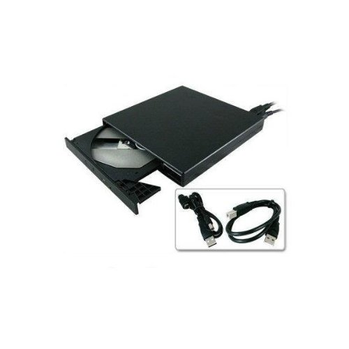 UbiGear New Super Slim USB 2.0 24x External CD CD-ROM Drive all Black For Windows Xp WIN 7 Vista Lenovo Asus Sony Gateway Macbook Loptop Pc Portable