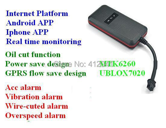 4 bands multi-function waterproof car gps tracker GT003  GPS data  high speed platform free shipping