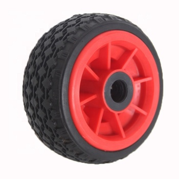 6 Inch 7 Inch 8 Inch 2.50-4 China Manufacturer Industrial PU Rubber Solid Flat Free Sand Tire Hand Trolley Wheel