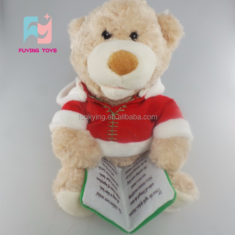 ICTI Factory hot sale plush X mas bear toy stuffed custom plush bear