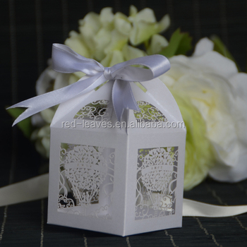 Wedding Favor Paper Cutting Unique Kraft Box Laser Cut European And Gift