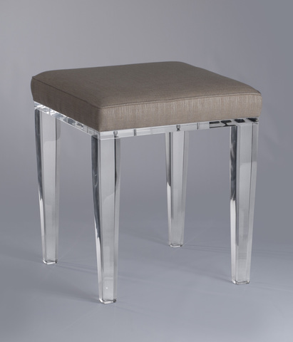 Best Square Clear Acrylic Vanity Stool W Back Or No Buy Acrylic With Vanity  Chairs With Backs.