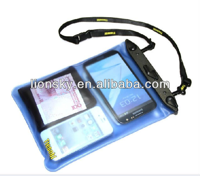 reusable PVC waterproof bag for cell phone