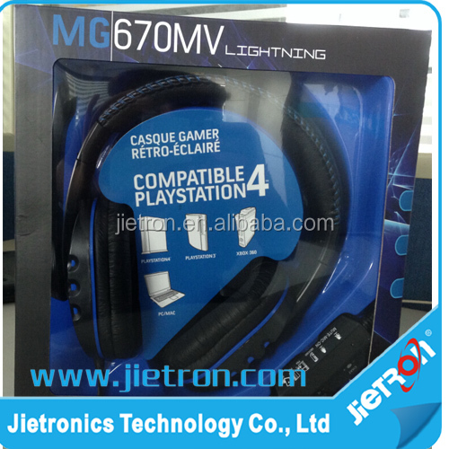 Wired Big Gaming earphone with mic 4 in 1 for PS4 PS3 XBOX 360 PC