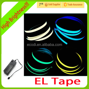 Flexible light up tape/glow in the dark tape/led light tape with driver for docoration