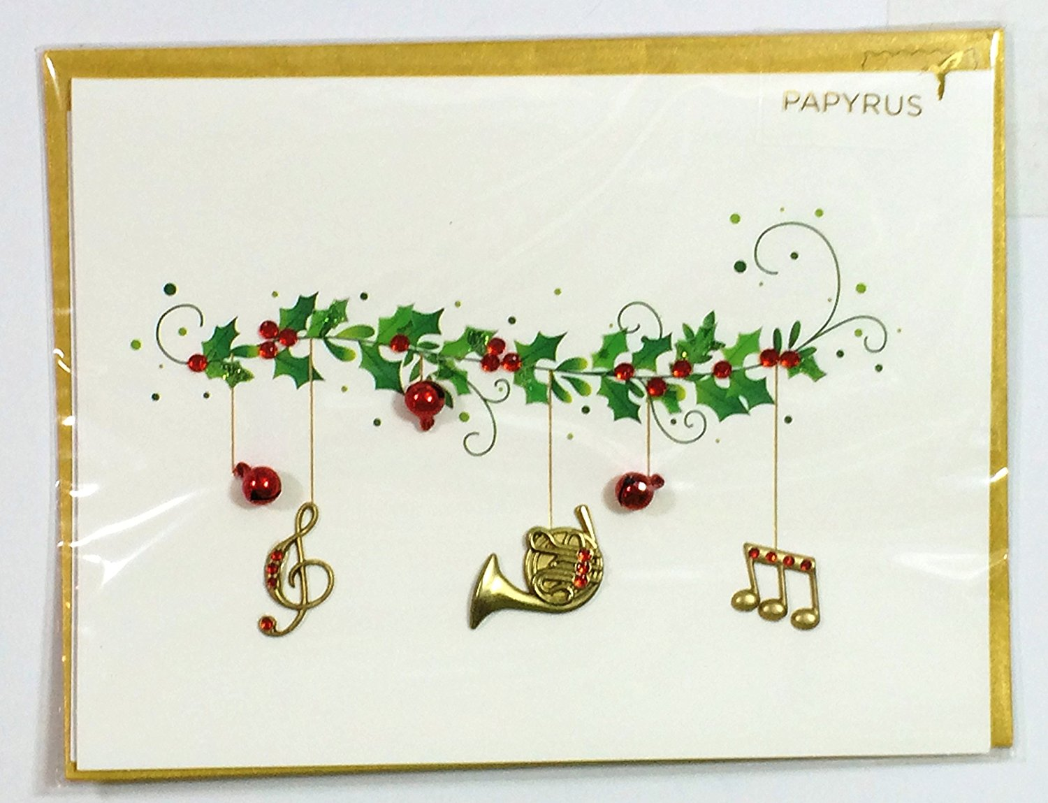 Cheap music notes christmas find music notes christmas deals on get quotations christmas cards for anyoneholly with music notes hornpapyrus m4hsunfo