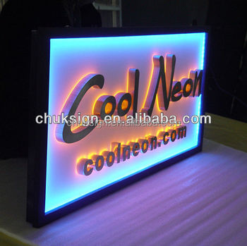 3d Acrylic Store Sign For Advertisement Ce Ul Rohs Led