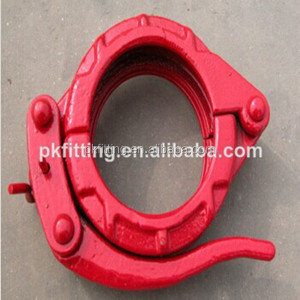 Concrete Pump Fitting Hardened Pipe Connection Forged Snap Clamp