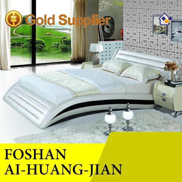 Cama de cuero moderno cuero genuino camas modernas el - Cama moderna diseno ...