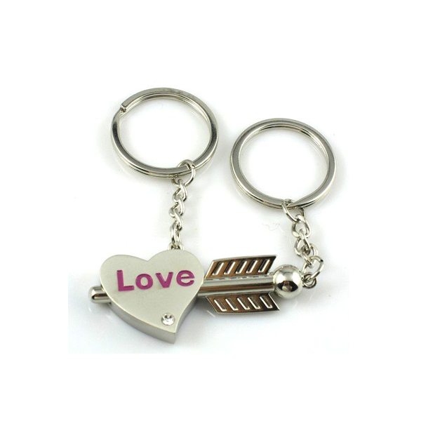 hot sale various couple keychains like key to my heart keychain
