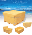 Plastic ICE Cooling Box,pu foam fish box,outdoor ICE cooler box