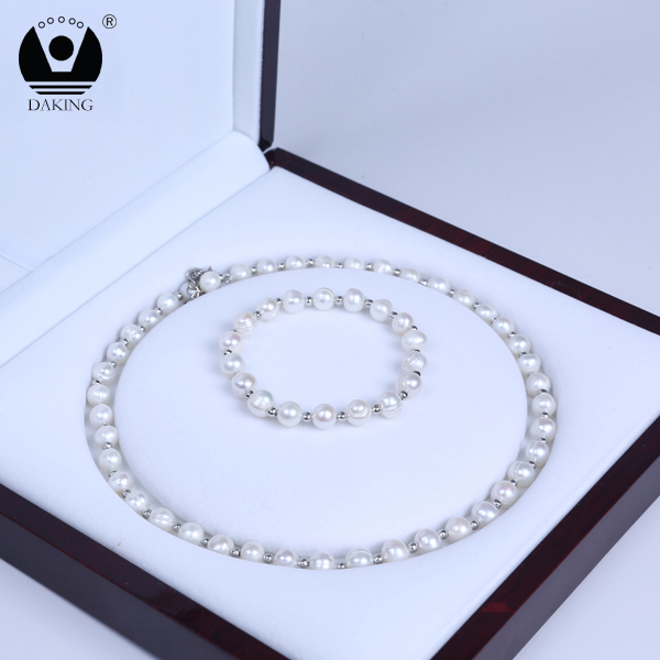Hot sale potato pearl beads jewelry freshwater pearl bridal jewelry set wedding
