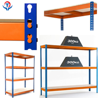 Industrial 4-Shelf Laminate Steel Metal Rack Shelves For Warehouse Pallet Rack