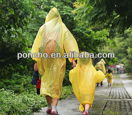 children peva/pvc raincoat&rain coat for emergence