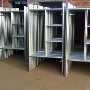 Construction Material Hot Dipped Galvanized Walking Through H Frame System