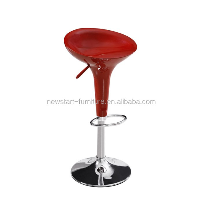 red color cheap used plastic bar stool
