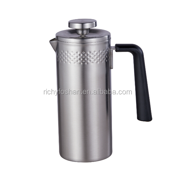 Stainless steel innovative design 350ml coffee press french best for travel