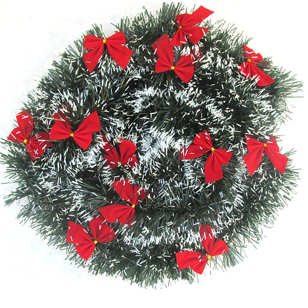 get quotations ornerx artificial christmas garland with red bow set of 10 - Christmas Garland Wholesale