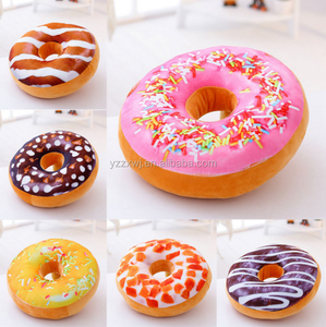 free sample Doughnut Donut Shaped Ring Plush Large 37cm Soft Novelty Style Cushion Pillow/ Plush Cover Cushion Decoration