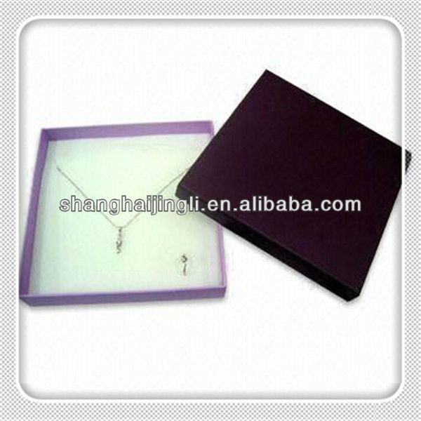 Customized cardboard paper packaging pearl necklace gift box wholesale