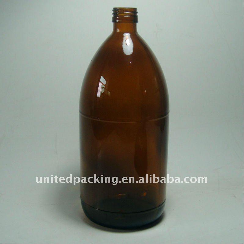1000ml Amber Pesticide Glass Bottle