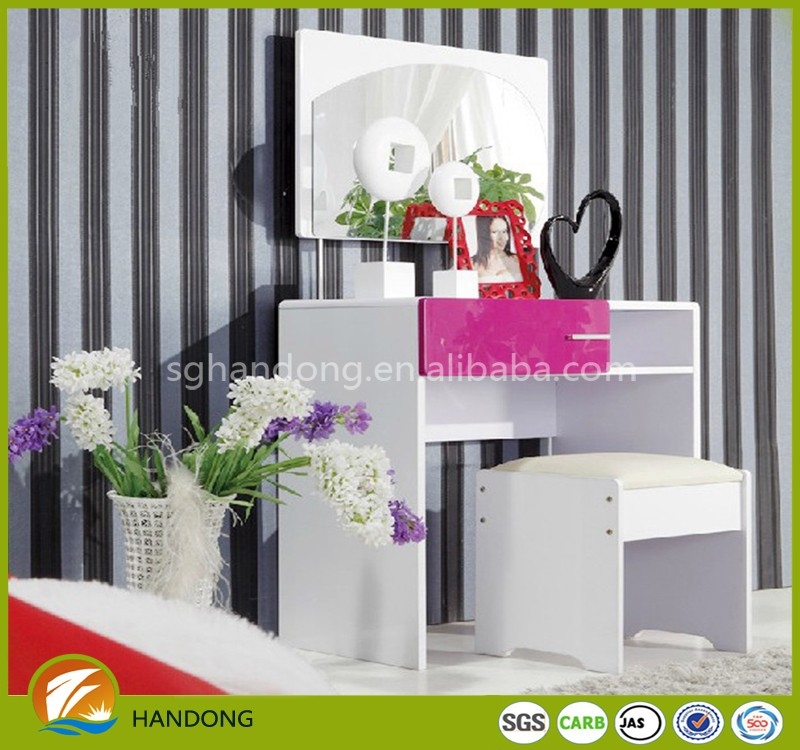 simple flat pack melamine MDF particle board dresser table for bedroom