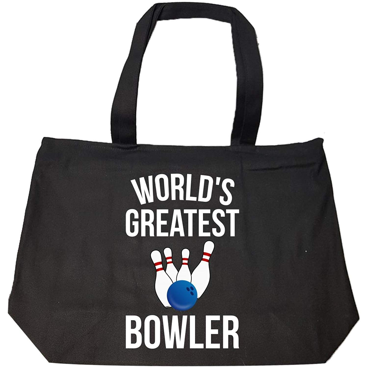 Get Quotations World S Greatest Bowler Bowling Funny Gifts Ideas Tote Bag With Zip