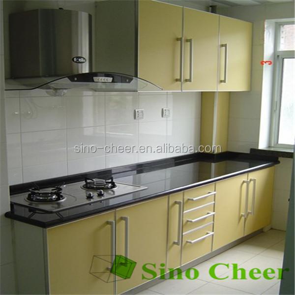 Natuurlijke zimbabwe zwart graniet keuken aanrecht werkbladen ...
