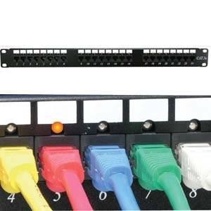 InstallerParts Cat 6 110 Patch Panel 24 Port Rackmount w/LED Indicator