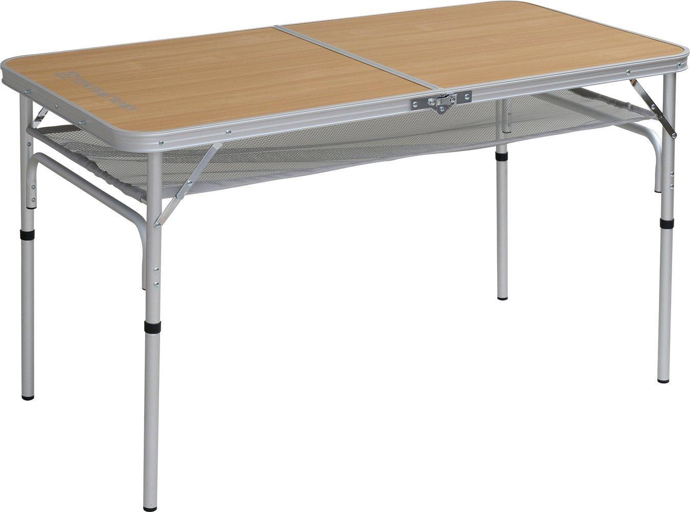TENT FACTORY (tent factory) dual folding table 1260EX Natural 120 ~ 60 ~ 68 (35) cm TF-DFT1260EX-NA